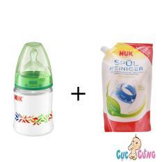 Mua Bộ Binh Sữa Nuk Nhựa Cổ Rộng 150Ml Xanh La Va Nước Rửa Binh Sữa Nuk 500Ml Hồ Chí Minh