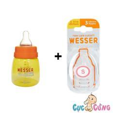Mua Bộ Binh Sữa Wesser 60Ml Va Vỉ Ty Wesser Rẻ Trong Hồ Chí Minh