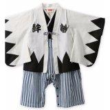 Bán Bộ Body Suit Yukata Mau Trắng Quần Phối Sọc Xanh Rẻ