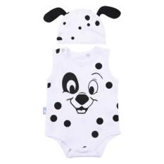 Bộ Bodysuit Hình thú cực kỳ đáng yêu cho bé trai và gái (Chó đốm và con ong, Con Gà ) - BDS08- Mihababy