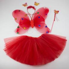 Hình ảnh Bộ cánh bướm thiên thần cho bé gái (đỏ)