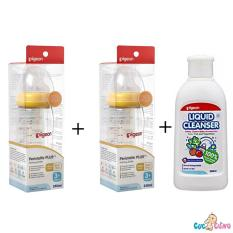 Ôn Tập Bộ Cặp Binh Sữa Pigeon Cổ Rộng Nhựa Ppsu Plus 240Ml Nước Rửa Binh Sữa Chai Pigeon 200Ml