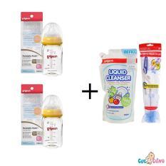 Bán Bộ Cặp Binh Sữa Pigeon Nhựa Ppsu Plus Cổ Rộng 160Ml Nước Rửa Binh Sữa Pigeon Goi 700Ml Cọ Rửa Binh Sữa Pigeon Trực Tuyến