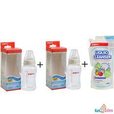 Giá Bán Bộ Cặp Binh Sữa Pigeon Streamline 150Ml Nước Rửa Binh Sữa Pigeon Goi 700Ml Pigeon Nguyên