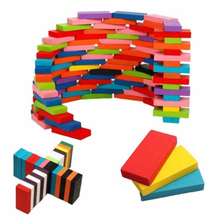 Bộ đồ chơi 100 quân Domino bằng gỗ