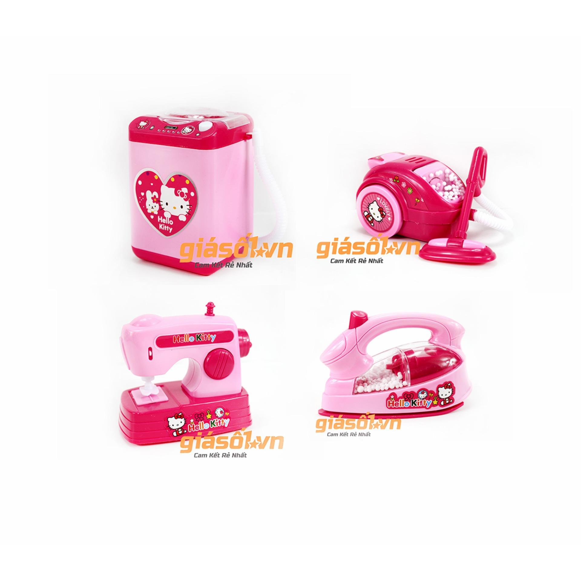 Hình ảnh Bộ đồ chơi 4 món đồ gia dụng cho bé gái dùng pin