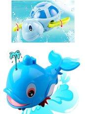 Hình ảnh Bộ đồ chơi bồn tắm 1 Cá heo phun nước và 1 Rùa biết bơi