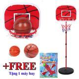 Giá Bán Bộ Đồ Chơi Bong Rổ Cho Be Baseketball Trụ Sắt Cao 150Cm Tặng 1 May Bay Nhãn Hiệu Sport