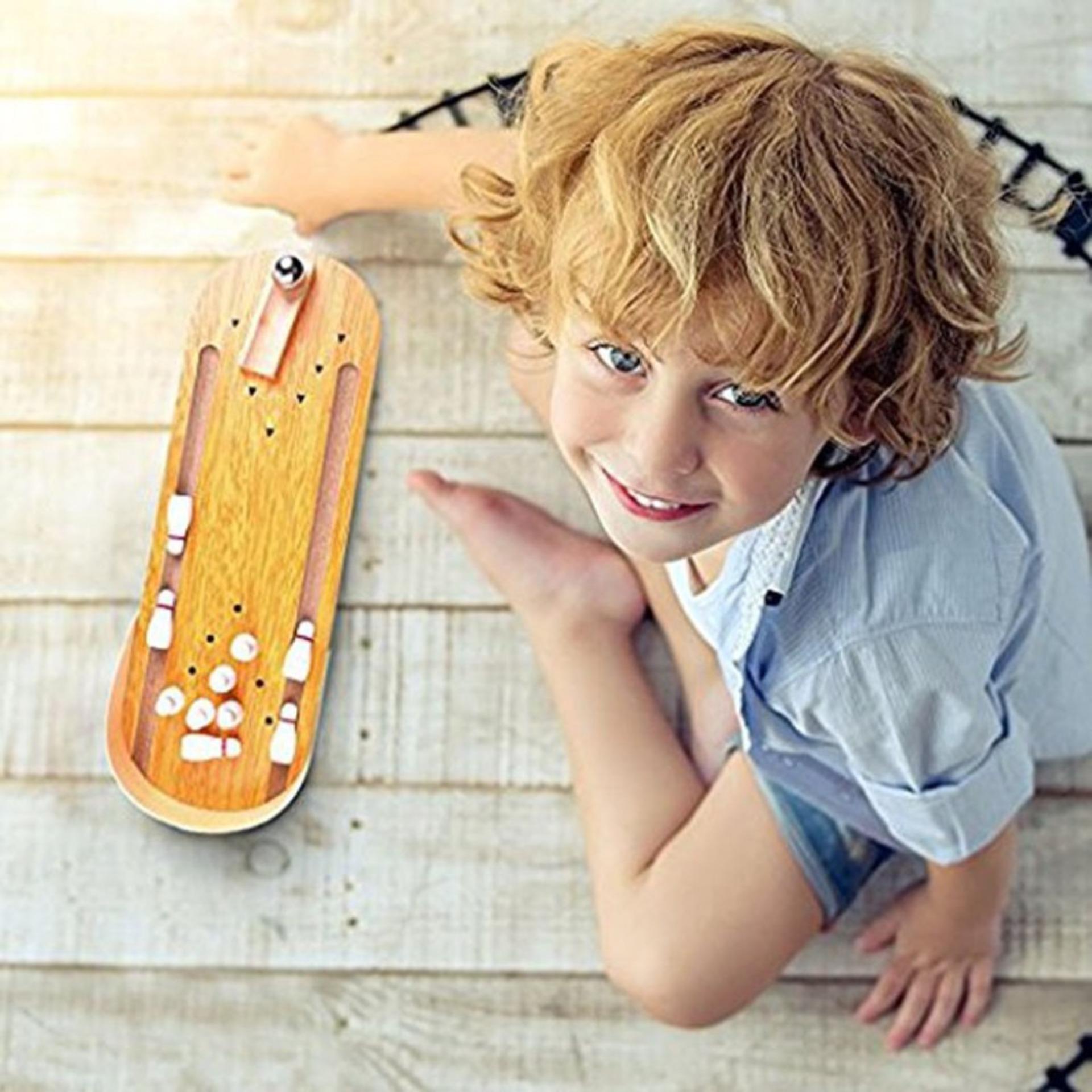 Hình ảnh Bộ đồ chơi Bowling bằng gỗ cho bé