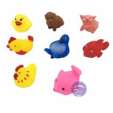 Hình ảnh Bộ đồ chơi các loại thú chít 8 con túi lưới