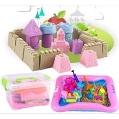 Bộ đồ chơi Cát động lực vi sinh tạo hình LÂU ĐÀI gồm: Hộp nhựa + 0,8kg Cát + Bể hơi + Đủ khuôn KamiHome vận chuyển Nhật Bản