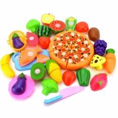 Hình ảnh Bộ đồ chơi cắt ghép rau củ quả và Pizza 24 chi tiết cho bé