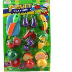 Hình ảnh Bộ đồ chơi cắt hoa quả nhựa, nhiều mầu sắc