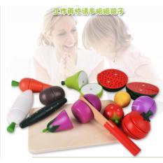 Hình ảnh Bộ đồ chơi cắt rau củ quả bằng gỗ