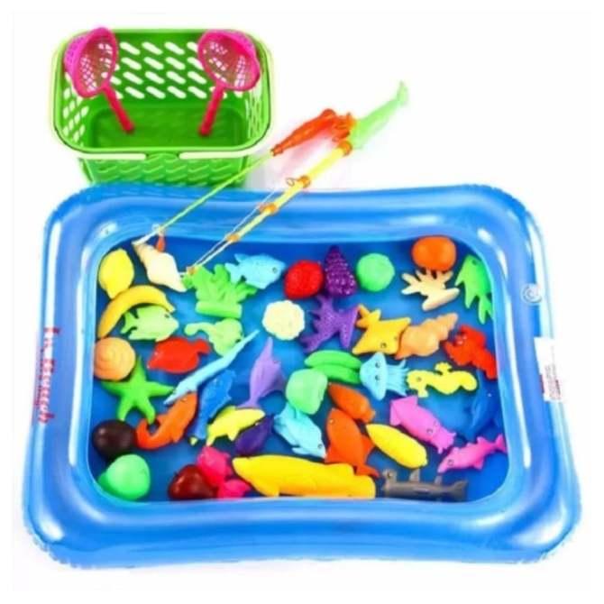 Hình ảnh Bộ đồ chơi câu cá cho bé kèm bể phao có bơm tay
