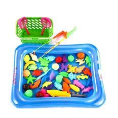 Hình ảnh Bộ đồ chơi câu cá cho bé kèm bể phao (có bơm tay)