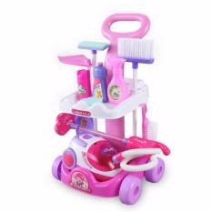 Hình ảnh Bộ đồ chơi dọn dẹp nhà cửa hút bụi( có dùng pin , nhựa an toàn cho bé)