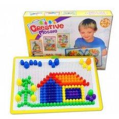 Hình ảnh Bộ đồ chơi ghép hạt gắn, ghép hình, vừa học vừa chơi thông minh cho bé