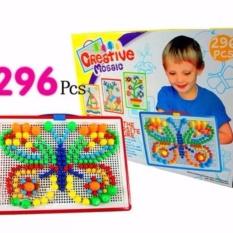 Hình ảnh Bộ đồ chơi ghép hạt gắn hình cho bé thông minh 296 hạt