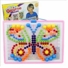 Hình ảnh Bộ Đồ Chơi Ghép Hạt Nhựa Creative Mosaic 296 Hạt giúp bé phát triển sự sáng tạo