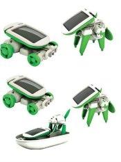 Hình ảnh Bộ đồ chơi lắp ghép luyện tư duy 6 trong 1, Pin năng lượng mặt trời RBKDCGD01 C584 (Xanh - Trắng)