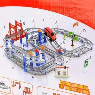 Bộ đồ chơi lắp ráp đường đua xe ô tô trí tuệ Trang Anh 57 thumbnail