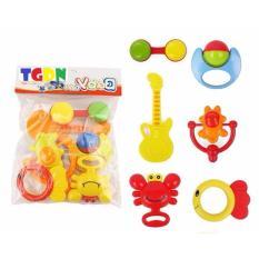 Hình ảnh Bộ đồ chơi lục lạc xúc xắc 6 món cho bé cao cấp