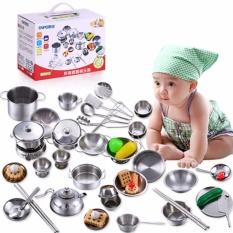 Hình ảnh Bộ đồ chơi nấu ăn bằng Inox (40 chi tiết, chất liệu an toàn)
