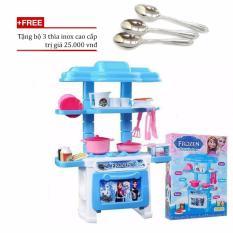 Hình ảnh Bộ đồ chơi nấu ăn nhu that VeGa365/Bộ đồ chơi nhà bếp giá rẻ+ Tặng bộ 3 thìa inox cao cấp