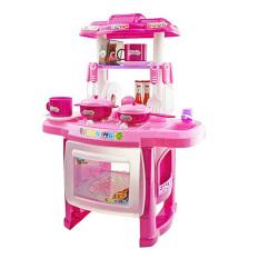 Hình ảnh Bộ đồ chơi nhà bếp Kitchen Cooking Toy Play set for Children and Parents(Pink)
