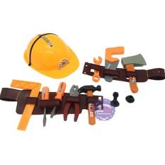 Hình ảnh Bộ đồ chơi nón bảo hộ & dụng cụ sửa chữa có dây đeo túi lưới