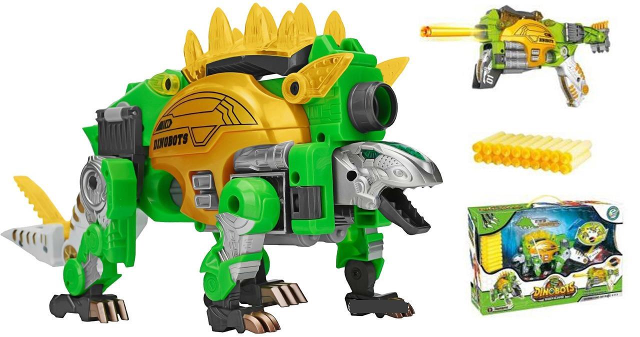Hình ảnh Bộ đồ chơi robot khủng long lắp rắp phóng phi tiêu dính - Stegosaurus - SDX247