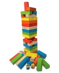 Hình ảnh Bộ đồ chơi rút gỗ 48 thanh màu sắc
