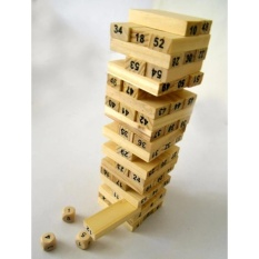 Hình ảnh Bộ đồ chơi rút gỗ 54 thanh kèm 4 xúc xắc