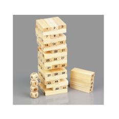 Hình ảnh Bộ đồ chơi rút gỗ Wiss Toy 54 thanh cho bé