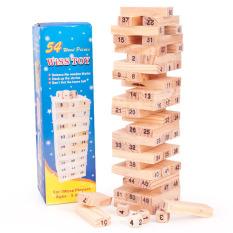 Hình ảnh Bộ đồ chơi rút gỗ Wiss Toy 54 thanh kèm 4 con súc sắc cho bé