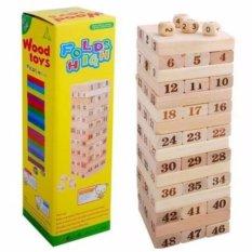 Hình ảnh Bộ đồ chơi rút gỗ Wood toys 48 thanh kèm 4 con súc sắc cho bé (Loại lớn)
