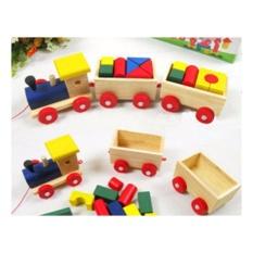 Hình ảnh Bộ đồ chơi xe lửa bằng gỗ