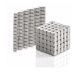 Hình ảnh Bộ đồ chơi xếp hình 216 viên nam châm thông minh vuông / nam châm ảo thuật (Bạc)