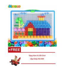 Hình ảnh Bộ đồ chơi xếp hình gắn nút sáng tạo + Tặng Trò Chơi Lắp Ghép NO.904