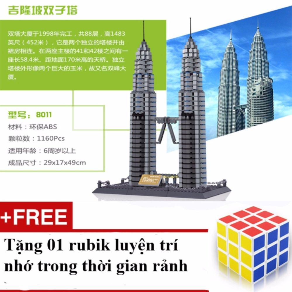 Bộ Đồ Chơi Xếp Hình Tháp Đôi Petronas Twin Towers 1.160 Chi Tiết