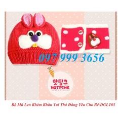 Mua Bộ Đoi Mũ Len Kem Khăn Quang Cổ Hinh Tai Thỏ Đang Yeu Cho Be Mau Đỏ Trực Tuyến Rẻ