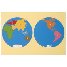 Hình ảnh Bộ ghép hình bản đồ thế giới cao cấp - Thực hành phương pháp Montessori