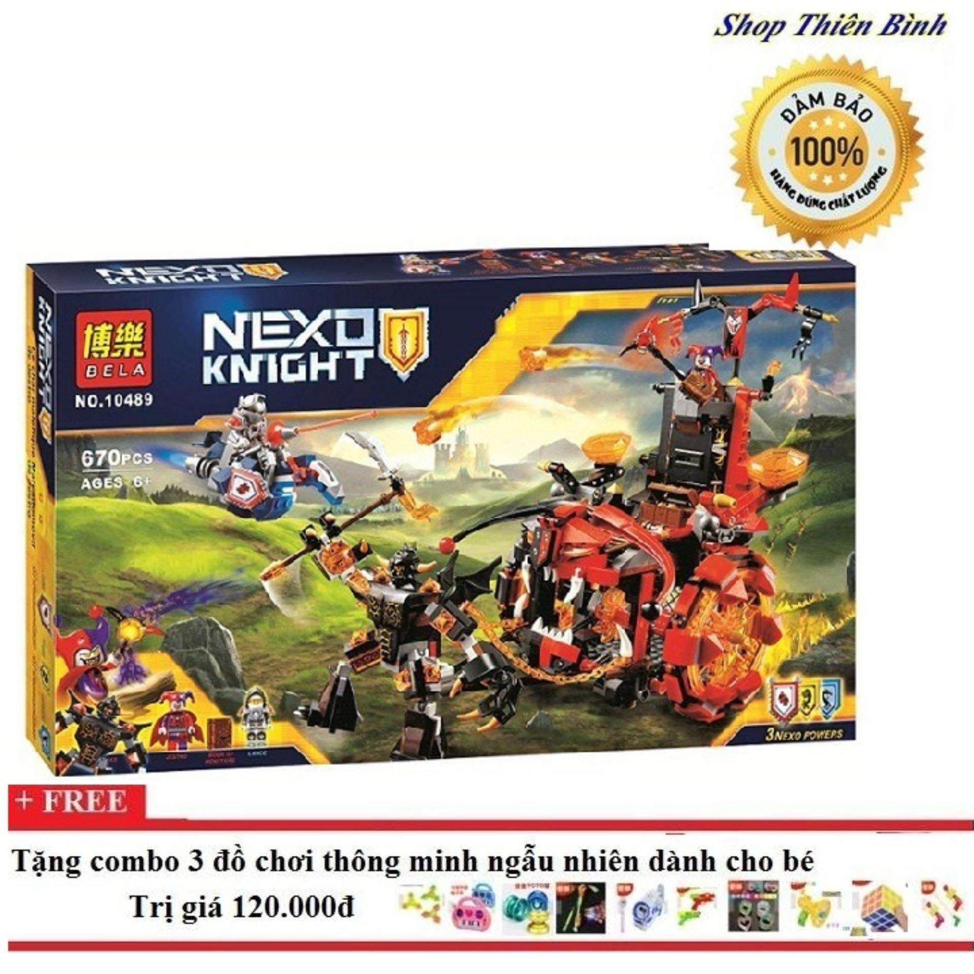 Bộ Ghép Hình Lego Bela Nexo 10489