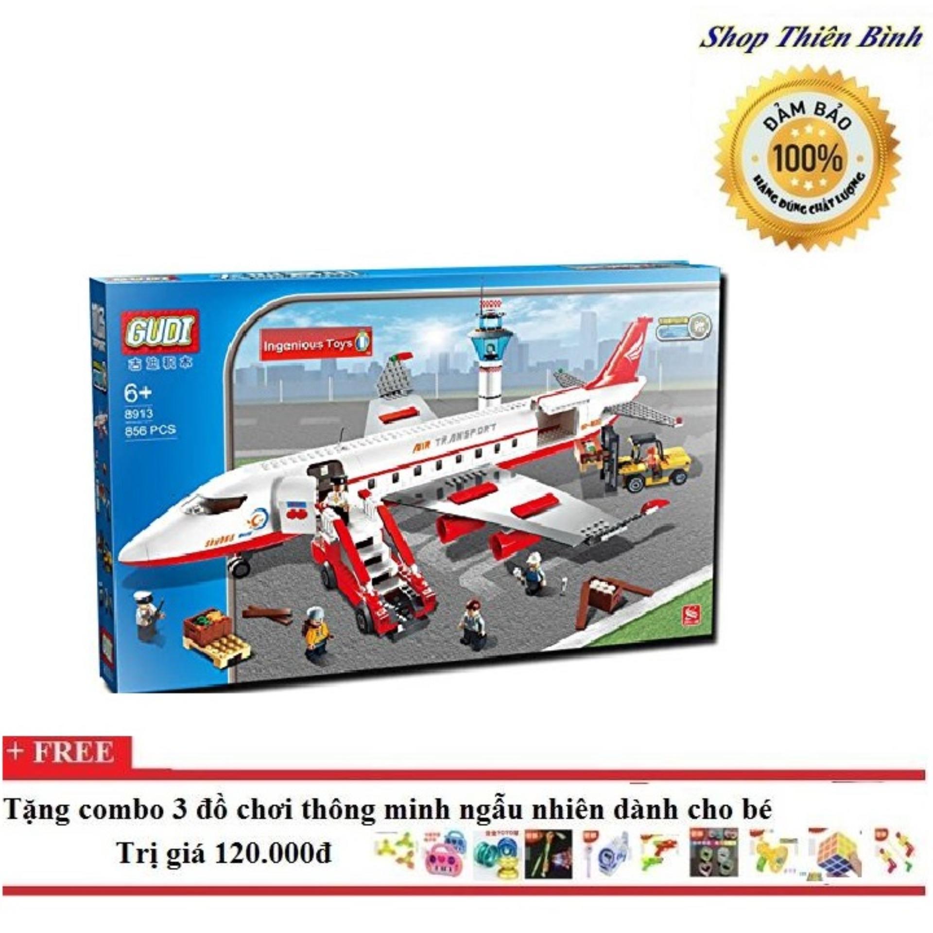Bộ Ghép Hình Lego Máy Bay Chở Khách Cỡ Lớn Gudi 8913