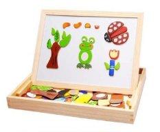 Hình ảnh Bộ ghép hình nam châm bằng gỗ hỗ trợ phát triển trí tuệ cho bé