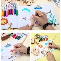 Hình ảnh Bộ khuôn gỗ vẽ tranh cho bé