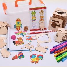 Hình ảnh Bộ khuôn vẽ bằng gỗ 50 hình cho bé thỏa sức sáng tạo