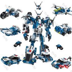 Giá Bán Bộ Lắp Rap Robot Biến Hinh 6In1 Destroyer 1407 Gồm 6 Mo Hinh Nhỏ Ghep Thanh 1 Robot Đồ Chơi Cao Cấp Poki Transformers Nguyên
