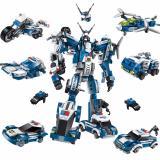 Chiết Khấu Bộ Lắp Rap Robot Biến Hinh Destroyer 1407 Gồm 6 Mo Hinh Nhỏ Ghep Thanh 1 Robot Popo Transformers